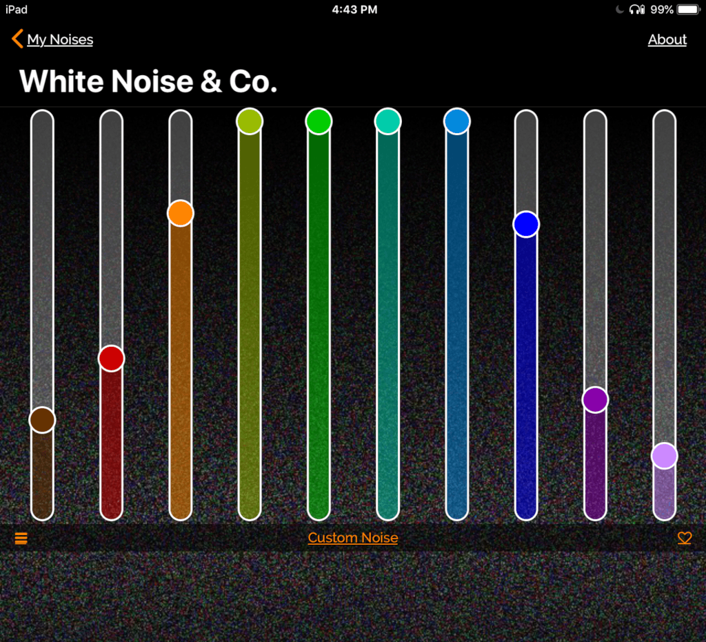 White Noise for Snore Blocking Equalizer Settings