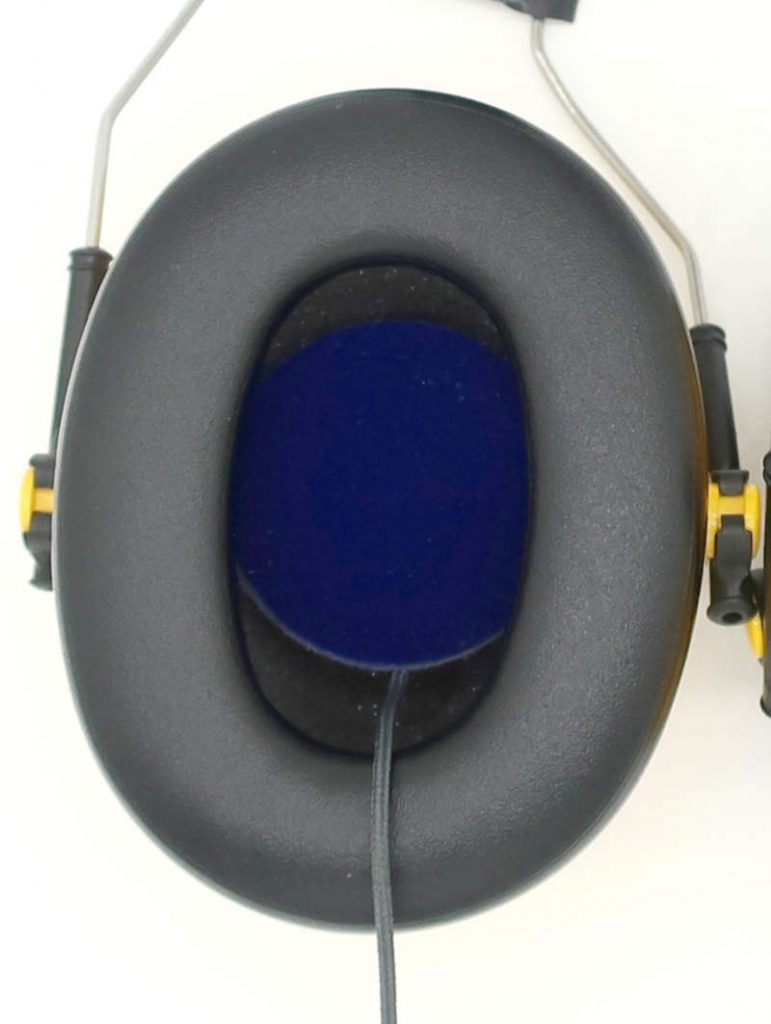 Optime 98 earmuffs with headband speakers