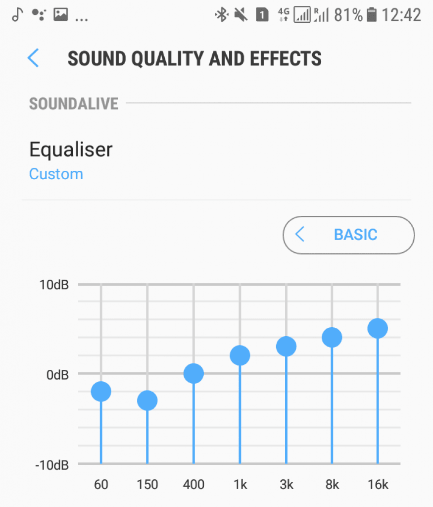 Sportz Titanium equalizer settings