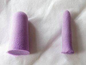 rolled foam earplug