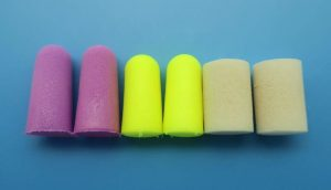 foam earplugs-tapered-cylindrical