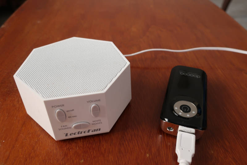 Lectrofan Classic powered by USB battery