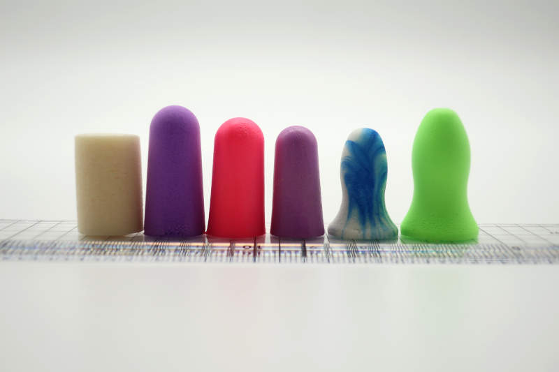 Short, normal and small earplug size comparison