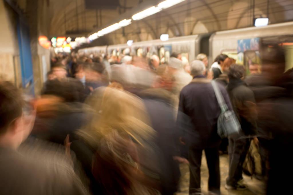 Noisy Subway Station