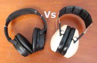 Noise Cancelling Headphones vs Earmuffs: Electronics or Big Ear Cups?