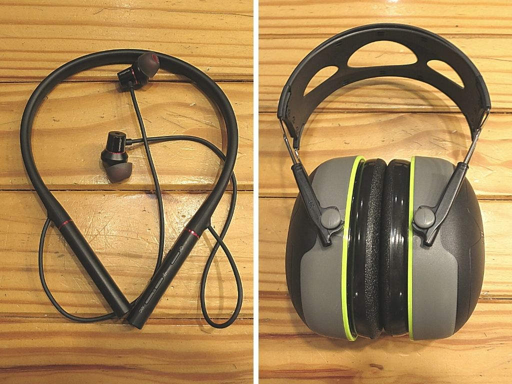 ANC earbuds plus earmuffs-noise-reduction